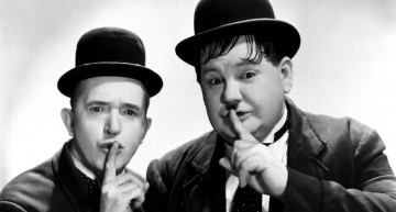 "Laurel and Hardy's "" Out West"" Routine Gets A Jolt From AC/DC"